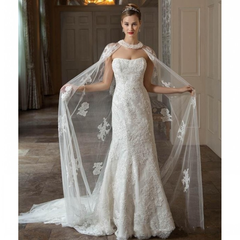 c53d3627e77 Gallery Of Reagan Gown Anastasia Cape. Ads. Elegant Bridal Wraps Wedding  Coat Sheer Lace Appliques Long Cape With Beads Pearls Bride Jacket In