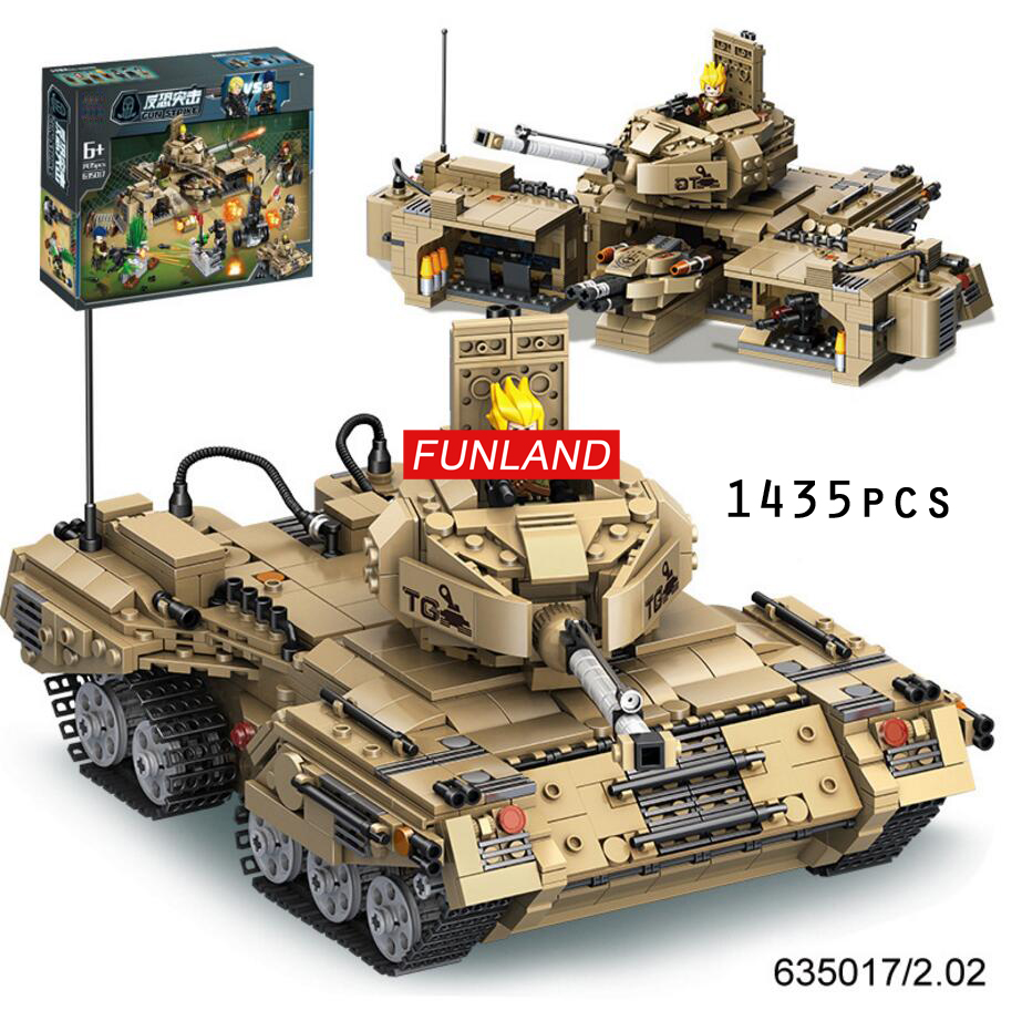 Modern military ww2 anti-terrorism Jungle assault tank Command center 2in1 building block army figures bricks toy collection dictionary of terrorism