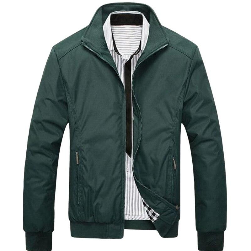 Men Plus Size 5XL Solid Color Classic  Jackets Men Spring Autumn Mens Windbreaker Jackets Men Casual Business Jackets 2018