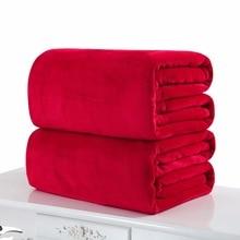 70X100 см или 100X150 см однотонные цветные одеяла Flano/фланелевая одноцветная плоская простыня многофункциональная плед