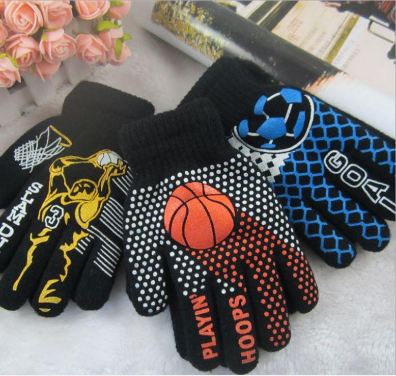 GLV898 wholesale children s Winter knitting sports font b gloves b font manufacturers selling