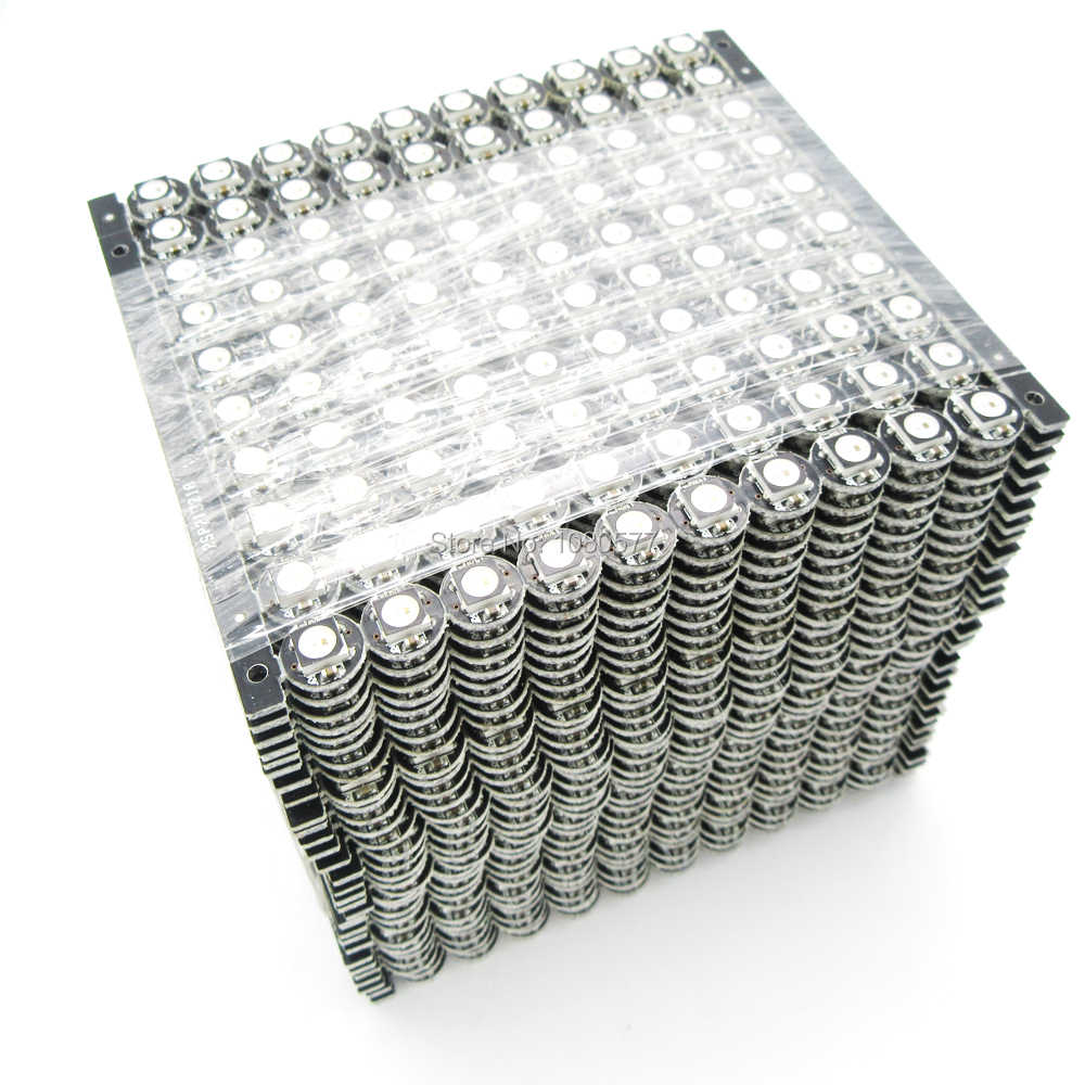 100 〜 1000 ピース WS2812B WS2812 LED チップ PCB ヒートシンク DC 5 ボルト 5050 RGB WS2811 IC 内蔵
