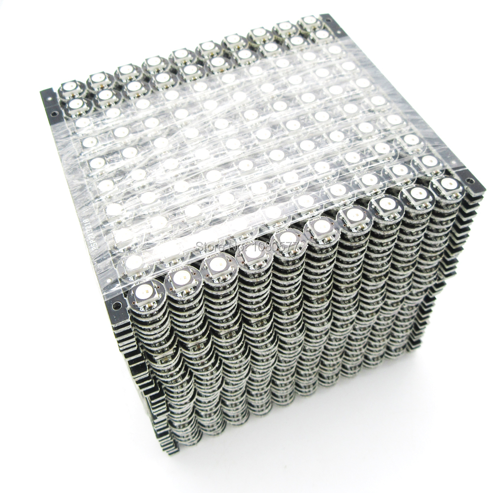 цена на 100~1000pcs WS2812B WS2812 LED Chip PCB Heatsink DC 5V 5050 RGB WS2811 IC Built-in