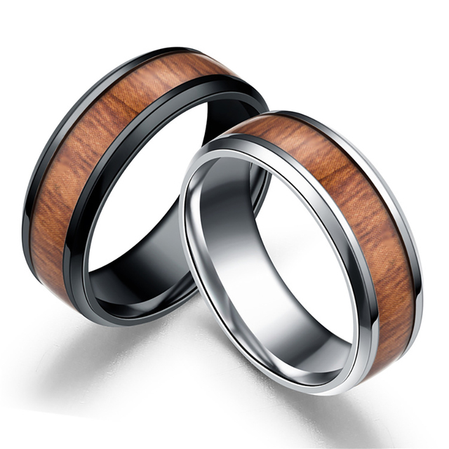 Vintage Brown Wood Ring