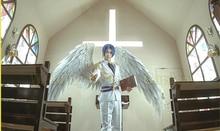 Черный белый косплей Крылья Ангела дефиле реквизит фестиваль Ангел Перо крылья окна реквизит нижнее белье Подиум