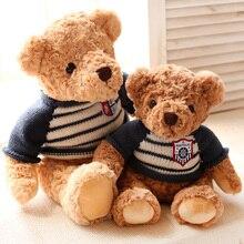 Sitting Size 25 35cm 2017 New Style wear sweater Bear Plush Toys Bear Baby cloth doll