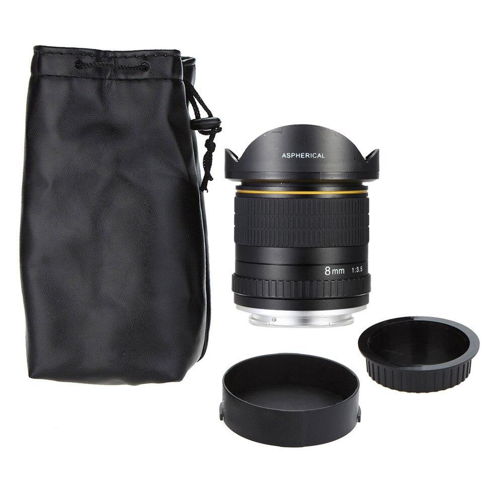 8mm F/3.5 Ultra Grand Angle Objectif Fisheye pour Canon DSLR Caméras 1500D 1200D 800D 760D 750D 700D 750D 600D 80D 70D 60D 77D 7D - 5
