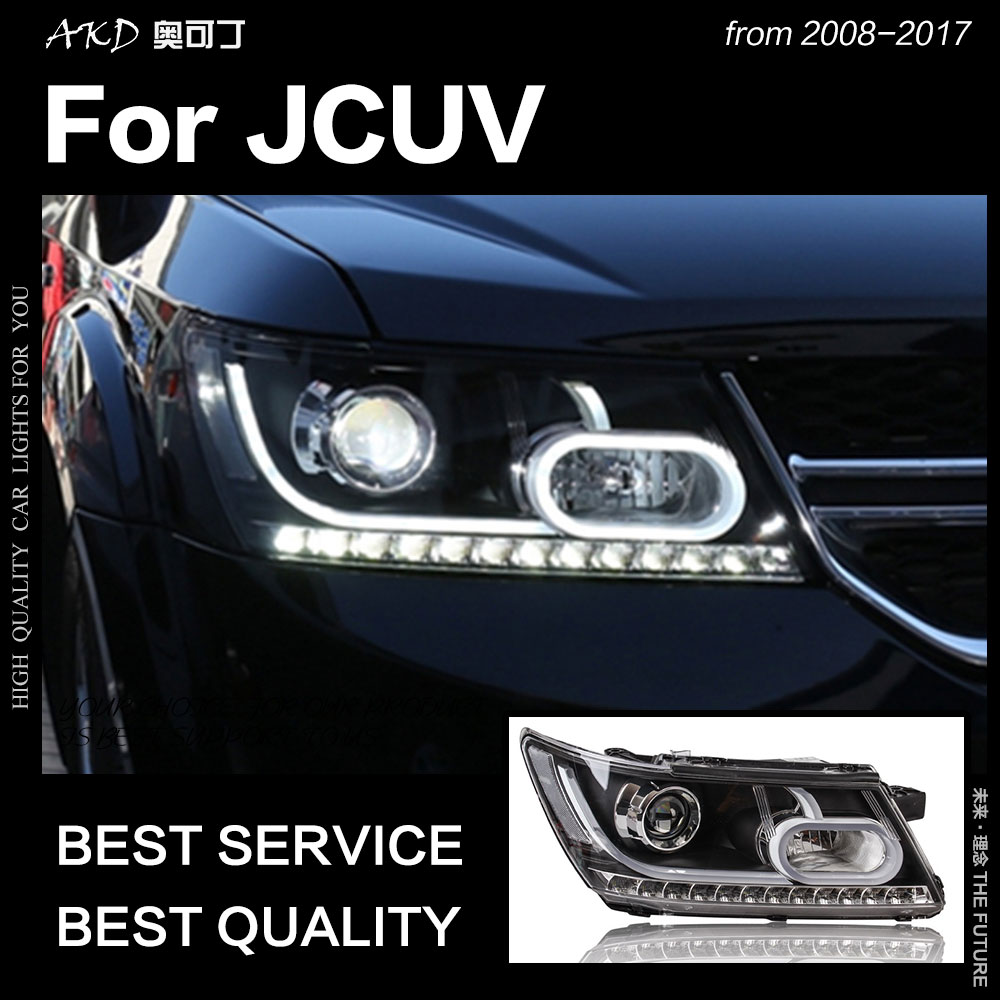 AKD Car Styling for Dodge JCUV Journey 2009 2017 LED Headlight Fiat Freemont LED DRL Hid
