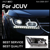 AKD Car Styling for Dodge JCUV Journey 2009 2017 LED Headlight Fiat Freemont LED DRL Hid Angel Eye Bi Xenon Beam Accessories