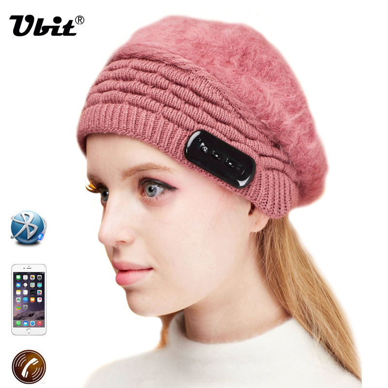 Ubit Bluetooth Earphone Music Hat Wireless Headphone With Mic Hands free Phone Calls Answer for IPhone6 6s SmartPhone / Tablet