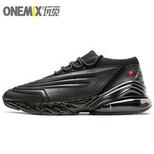 ONEMIX 270 Running Shoes Men Leather Upper Air Cushioning Soft Midsole Sneakers Casual Outdoor Trainers Max 12.5