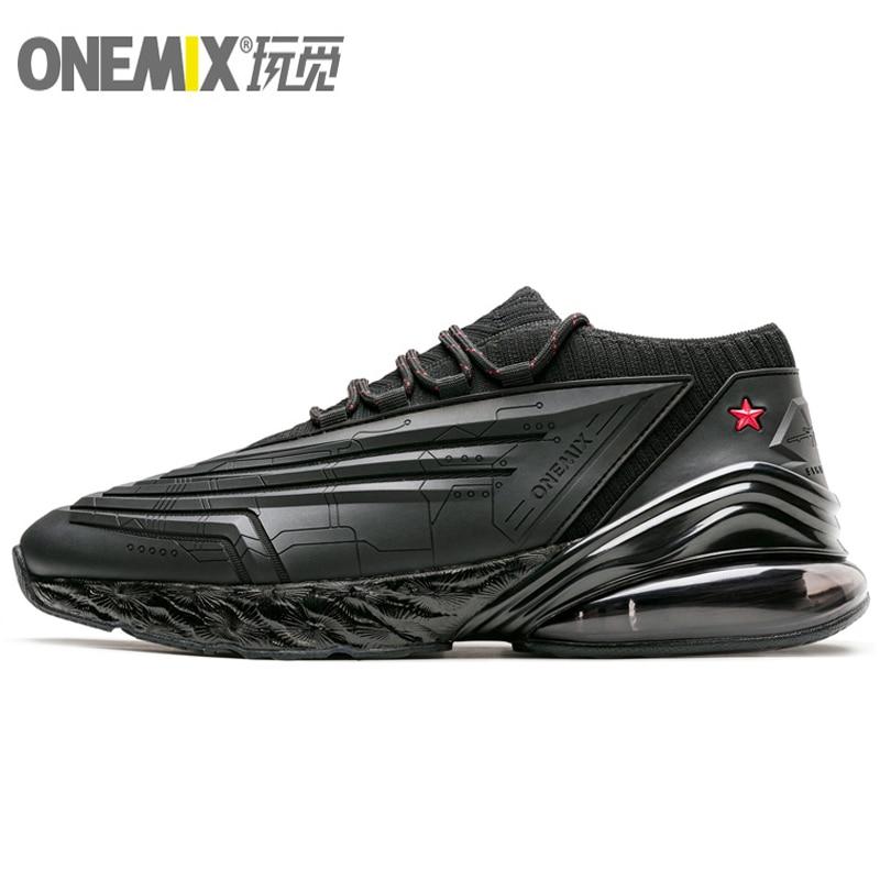 ONEMIX 270 Chaussures de course Hommes En Cuir Coussin D'air Semelle Intermédiaire Souple Baskets décontracté Extérieur Formateurs Max 12.5