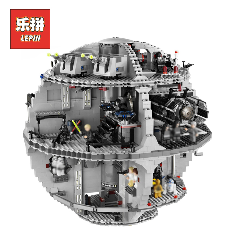 LEPIN 05035 Star Wars Classic Death 3804pcs Model Building Kits Block Bricks Compatible LegoINGlys 10188 Toys for boys gift new lepin 22001 pirate ship imperial warships model building kits block briks toys gift 1717pcs