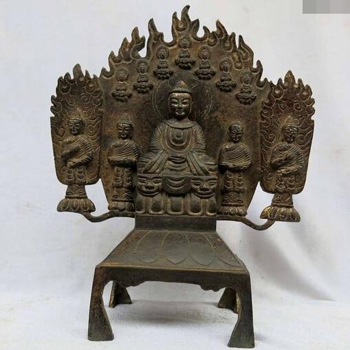 shitou 002913 10 China pure purple bronze carved Buddhism Shakyamuni and four buddha Statueshitou 002913 10 China pure purple bronze carved Buddhism Shakyamuni and four buddha Statue