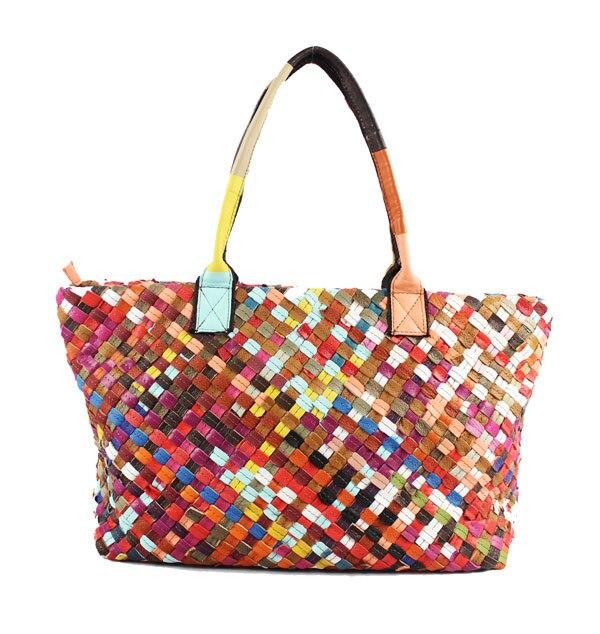 AETOO 2017 wiosna i lato nowy oryginalny pojedynczy tkania panie rękę na ramię pakiet przekątnej 100% torebka z prawdziwej skóry w Torby z uchwytem od Bagaże i torby na  Grupa 3