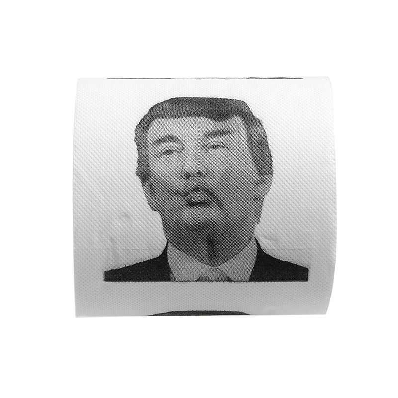 Хиллари Клинтон Дональд Трамп доллар Юмор туалетной бумаги подарок дампа Смешные рулетка
