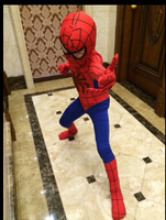 Free Shipping New Brand Spiderman Cosplay Costume S XL For 3 12 Years Boy Birthday Party