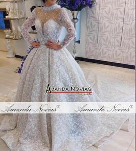 Image 4 - Amanda Novias brand trouwjurk lange mouwen bruid jurk 2019