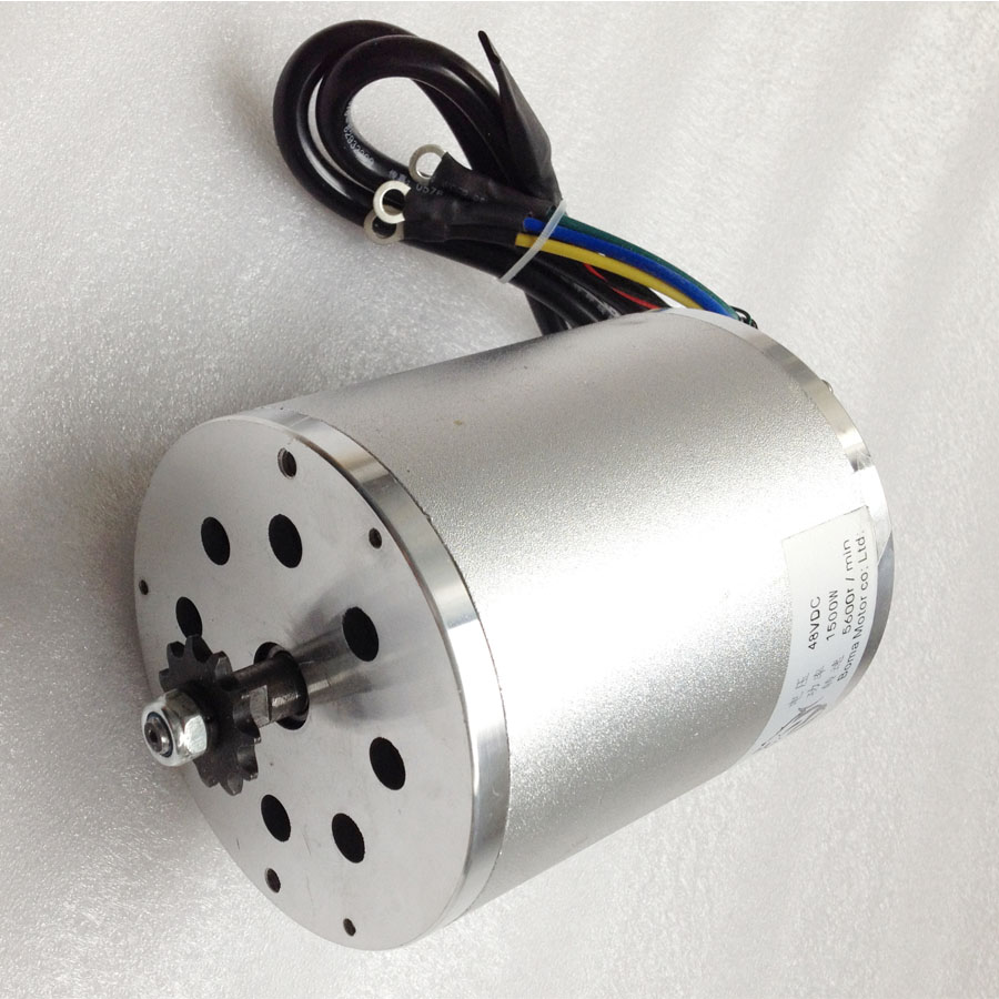 ФОТО Hot sale! 48V 1500W Central Drive High Speed Brushless DC Motor 5600RPM Electric EVO Scooter Brushless Motor
