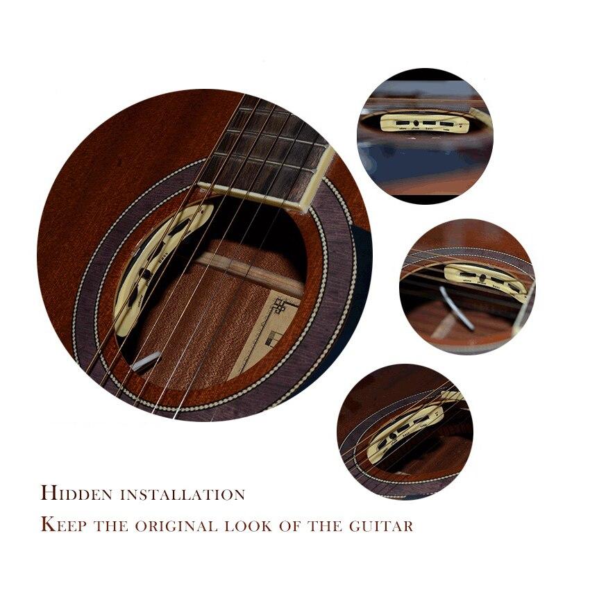 MUKU haut de gamme guitare acoustique classique GT-A1/A2 micros accessoires guitare avec haut-parleurs cartes de jeu haute fidélité