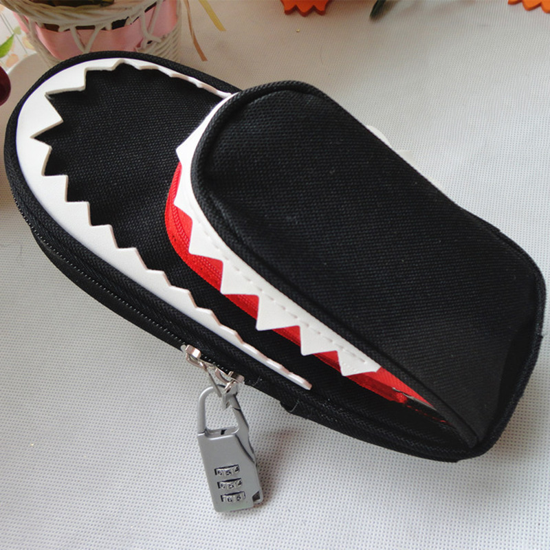 fashion character children shark school Pencil Case for boys and girls cartoon teenager school supply pencil bag kids stationery цена