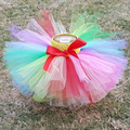 Rainbow Girl Tutu Skirt Chiffon Tulle Baby Girl Tutu Skirt Purple Ballerina Tutu Skirt for Party Photograph Birthday Clothing