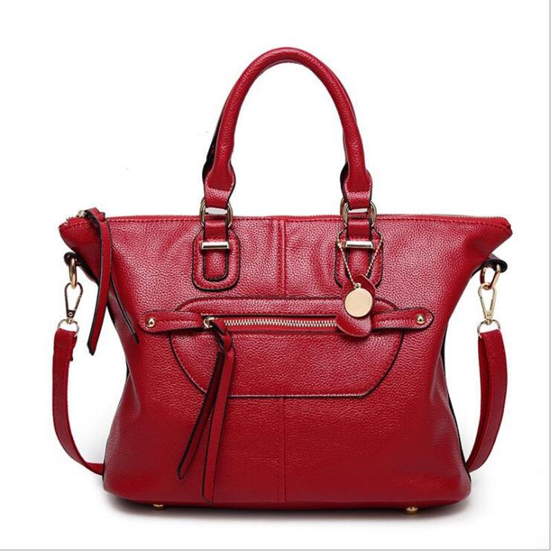 Women's Handbag 2018 New Fashion Europe and America Hot Brand Simple Shoulder Bag Ladies Solid Big Crossbody Locomotive Bag повседневные брюки tide brand in europe and america d9048