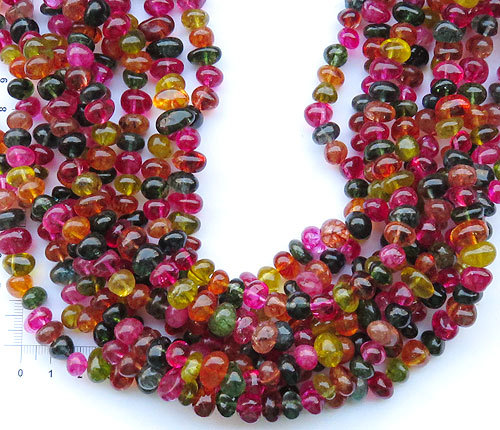 Single Line Beads: YA1093 Colorfull Crystal Nuggets Bead Loose Beads 6x10mm
