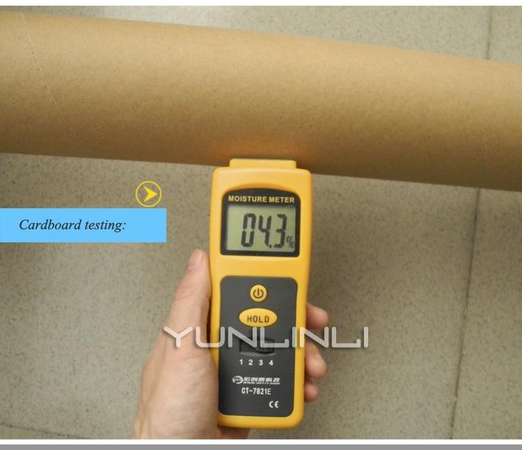 0-80% Inductieve Vochtmeter Muur Bouw Materiaal Vochtigheid Detector Muur Bouw Vocht Test Instrument Apparatuur