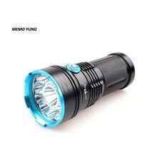24000Lm 12* XML-T6 Мощный тактический фонарик для кемпинга фонарь Водонепроницаемый Перезаряжаемые светодиодный вспышка светильник импульсная лампа светильник для 18650