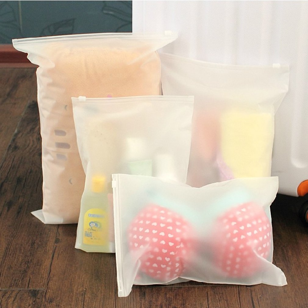 Swimming Bags Matte Frosted Pouch Swimming Bag Sealed Waterproof Transparent Eco Ziplock Bag Clothing Bra Shoe Storage