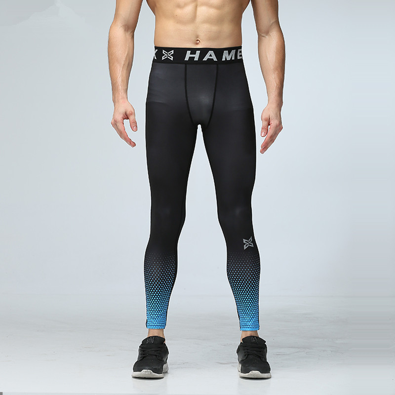 Men Yoga Pants Running Sports Compression Tights Underwear Fitness Gym Jogging Basketball Football Training Pant Quick Dry цена