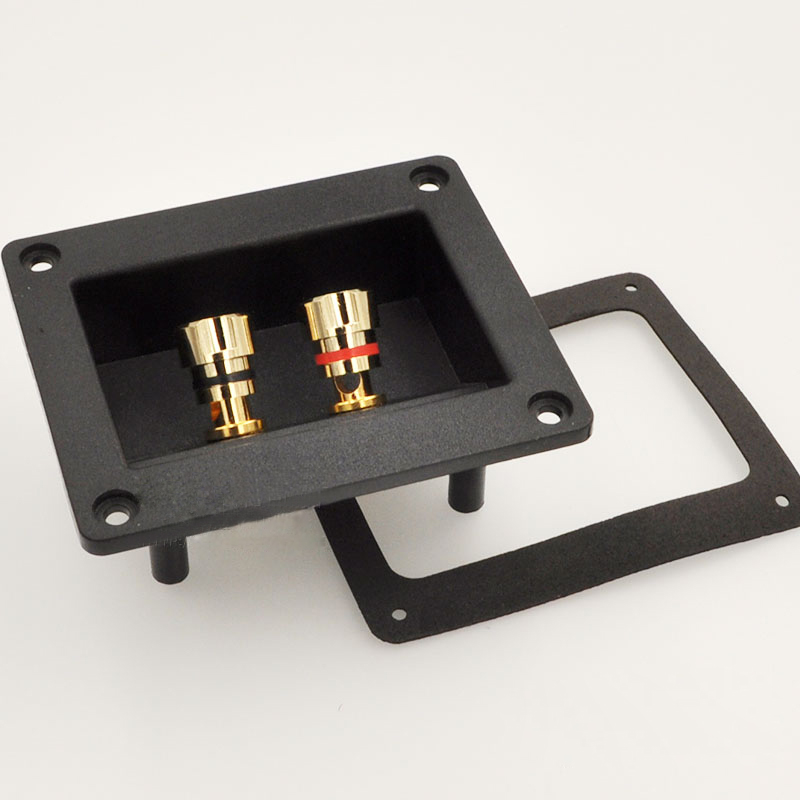 Speaker Junction Box Connector Plug Terminal Audio Two Speaker Panel Banana Socket Copper eglo connector box 91207