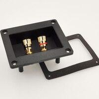 Speaker Junction Box Connector Plug Terminal Audio Two Speaker Panel Banana Socket Copper