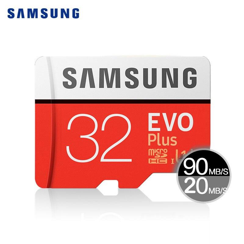 D'origine SAMSUNG Micro SD Carte Mémoire EVO + Plus 32 GB Class10 TF Flash Memoria Carte C10 SDHC/SDXC UHS-I 32 gb Pour Mobile téléphone