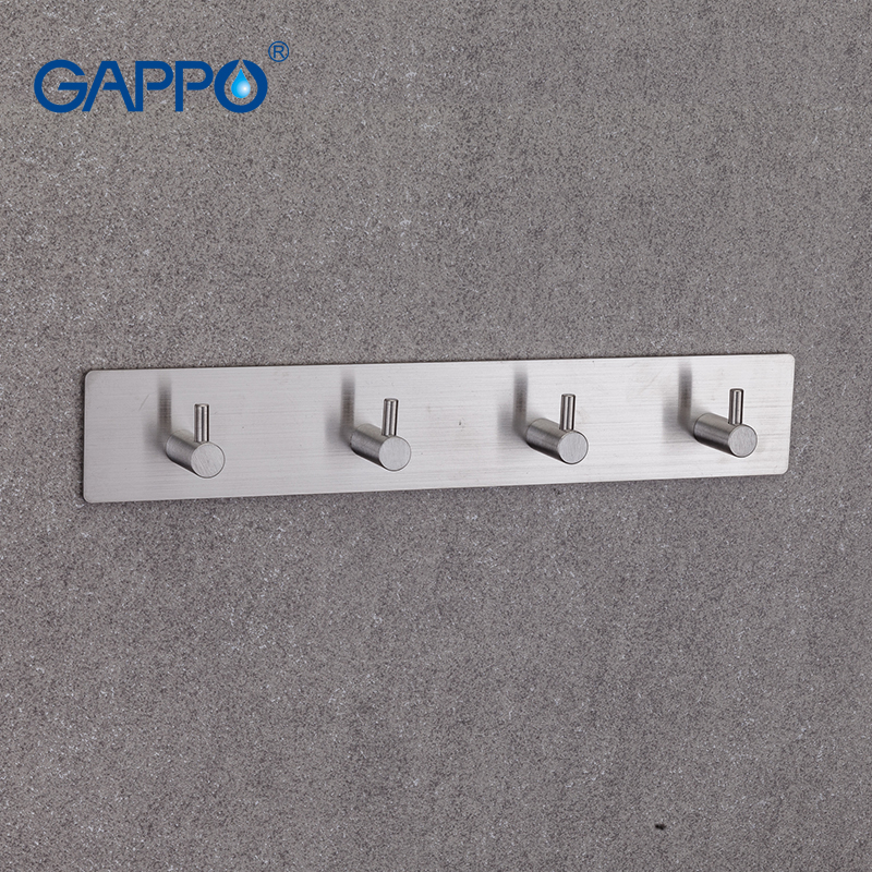 GAPPO Robe Hooks 4 clothes hook stainless steel Hooks Wall mount Tower Holder Bathroom Towel Hanger gappo towel bars bathroom towel holder hanger bath accessories stainless steel towel rack towel ring robe hooks bathroom
