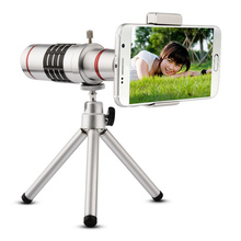 Promo offer High Quality Universal Black and Silver 18X Zoom Phone Telescope Telephoto Camera Lens + Tripod for Smartphones