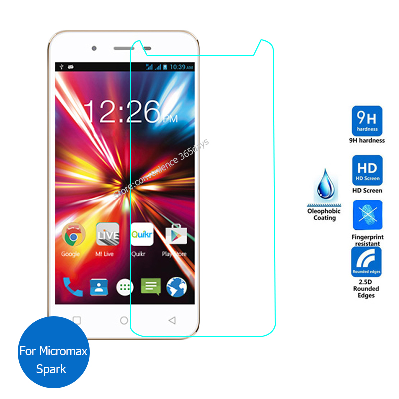 For Micromax Canvas Spark Tempered Glass Screen Protector 2.5 9h Safety Protective Film on Q380 Q 380
