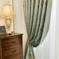 European Jacquard Curtains Velvet for Living Room High Quality Luxury Blackout Curtains for Bedroom Ready Made Window Drapes
