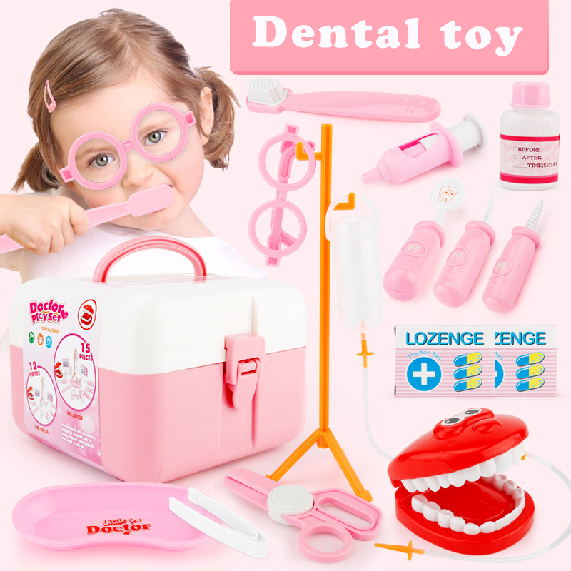 ed9db03ab Image 13pcs Doctor Play Toys Set Doctora Juguetes for Child Medical Kit  Baby Educational Box Light