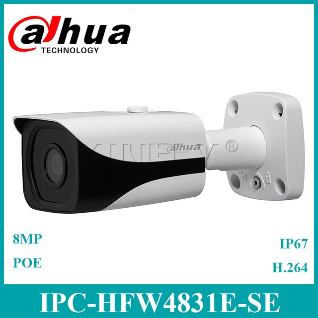 US $136 15 8% OFF|Dahua New English Version IPC HFW4831E SE 4K 8MP WDR IR  Mini Bullet Network Camera Upgrade from IPC HFW4830E S-in Surveillance