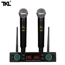 TKL K-220U Dual channels adjustable UHF Wireless microphone for Karaoke System