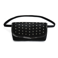 New Arrival Improt PVC Women Waist Bag Stars Decorative Fashion Belt Wallet For Lady Top Qualitly Fanny Pack Gold And Black 2018