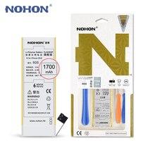 Оригинальные NOHON Батарея для Apple iPhone 5S 1700 мАч Высокой Емкости с Розничной Упаковке Бесплатный Ремонт Станков