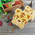 Baby Tooth Box Tiger Organizer Box Save Milk Teeth Wooden Box for baby Wood storage creative for kids Chirstmas Gift