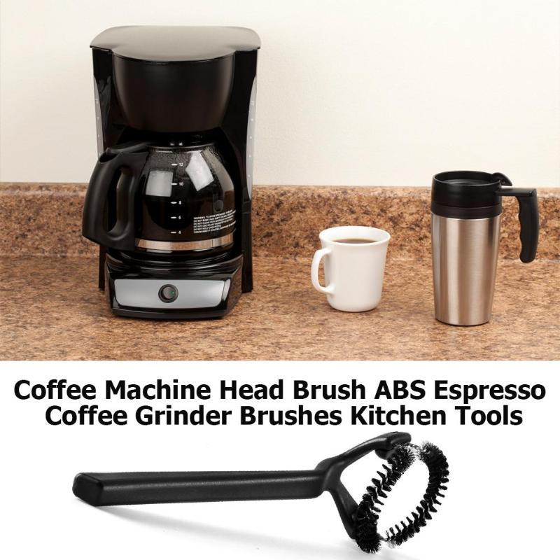 Кофемашина головка щетки ABS кофемолка для эспрессо щетки Кофеварка инструменты для уборки на кухне