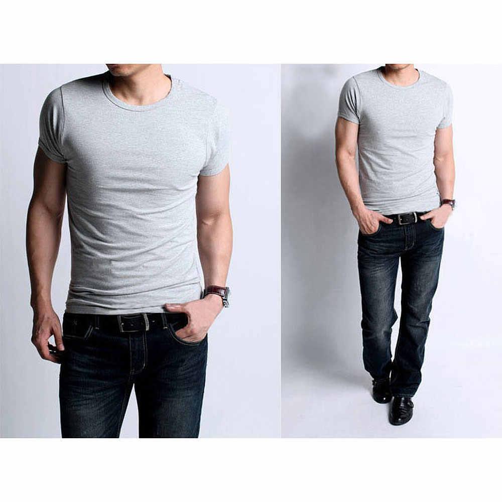 8a14986052fd1 ... Мужские футболки из эластичного хлопка, мужские повседневные футболки, мужская  одежда, повседневные майки с