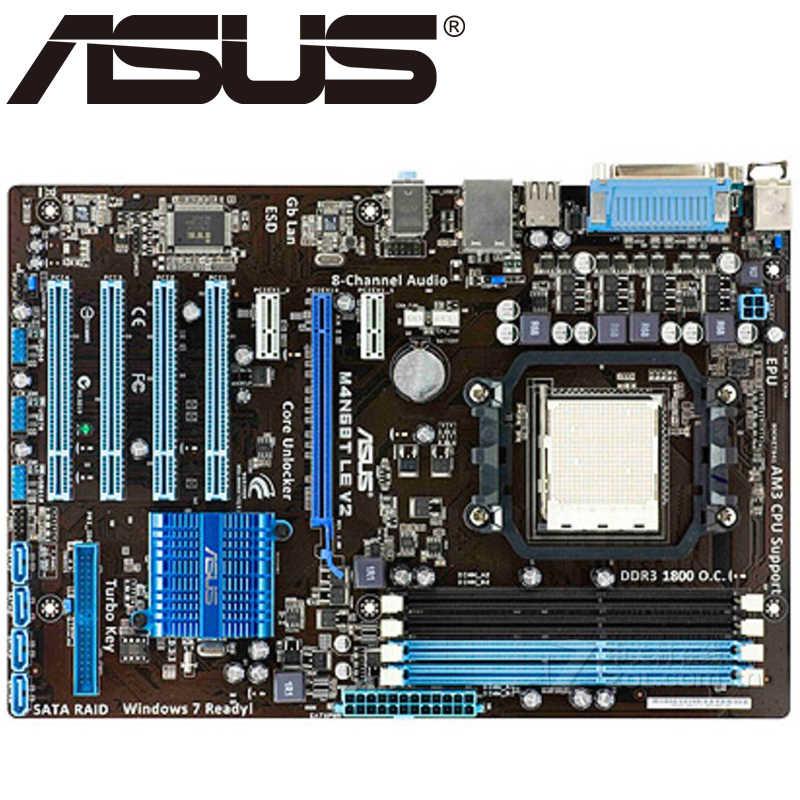 Asus M4N68T LE V2 рабочего Материнская плата 630A гнездо AM3 для Phenom II Athlon II Sempron 100 DDR3 16G блок питания ATX Оригинальный используется