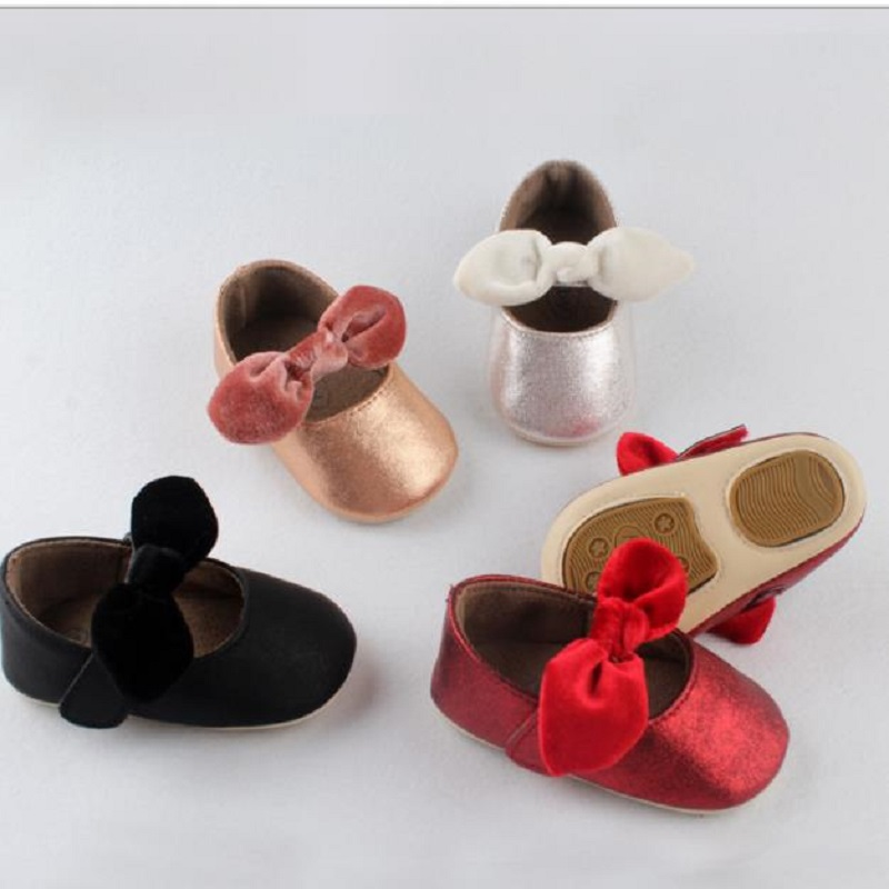 xi01 Autumn baby shoes anti slip baby princess shoes soft soles baby shoes 0 1 year old toddler shoes
