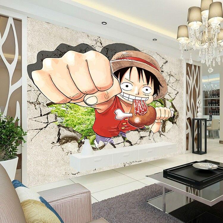 Фотообои с изображением японского аниме, 3D настенные фотообои на заказ для мальчиков и детей, декор для спальни, Забавный